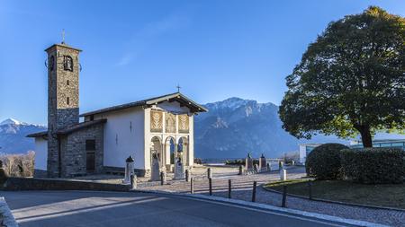 virgen maria: Ghisallo: sanctuary dedicated Madonna Protectress of cyclists Foto de archivo