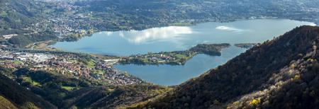 Panoramic view of Lake Annone Archivio Fotografico