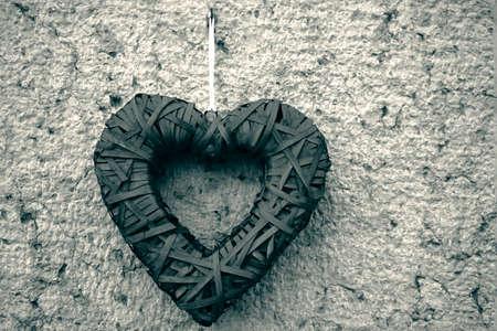 Photo Black & White Heart ornamental Stok Fotoğraf