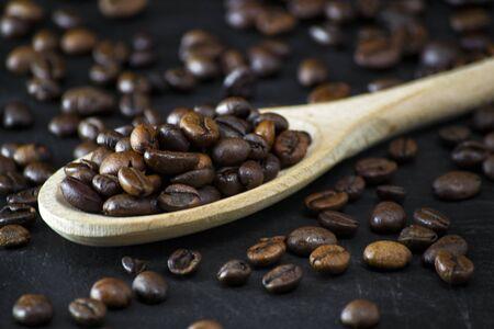 biological roasted coffe beams for real italian tasty energetic coffe drink Stok Fotoğraf