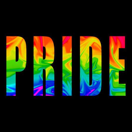multicolor pride word for lgbt world day. concept for human rigrhts discrimination