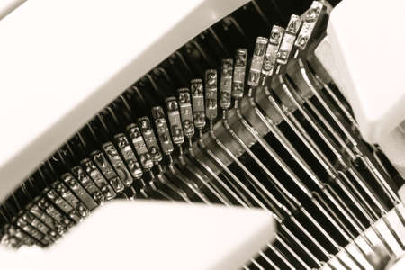 old fashioned mechanical manual typewriter. concept for journalism and information