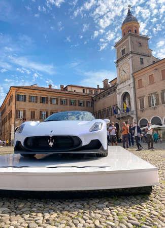 10/09/20 - Modena, Italy - Presentation of the new Maserati MC20 Supercar model in Piazza Grande (unesco site) of Modena