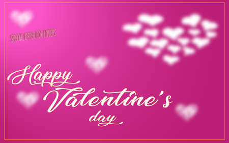 greeting card for special offer on valentine's day. concept for love, valentine