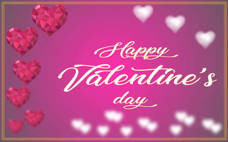 happy vaelentine's day greeting card for celebration of love. concept for love and lovers
