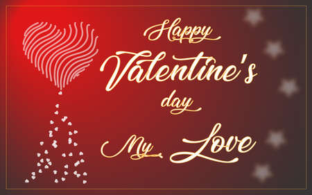 valentine's day card. concept for Saint Valentine feast, love, special business offer Imagens