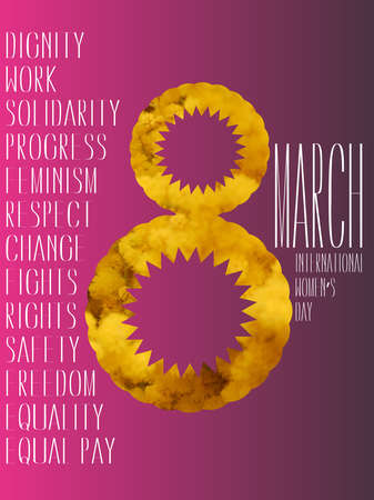 Design card for international women's day, 8th march celebration.