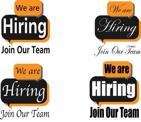 We are hiring - join our team. Concept for human resources, job application, job reserch