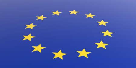 union flag: 3d rendering european union flag Stock Photo