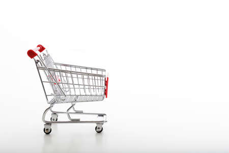 supermarket trolley: metal supermarket trolley