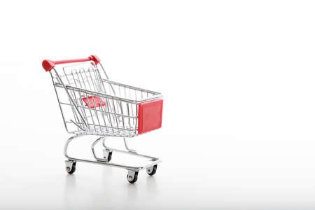 metal supermarket trolley