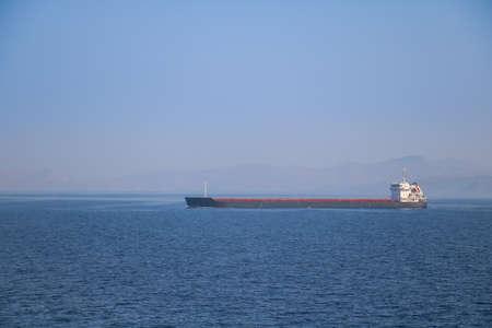 tanker ship: Big tanker ship in the sea Stock Photo