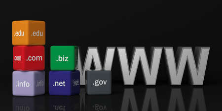 gov: 3d rendering cubes with domain names