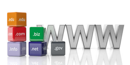 ip address: 3d rendering cubes with domain names