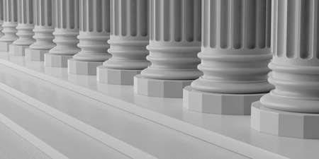 pillars: 3d rendering marble pillars row with steps