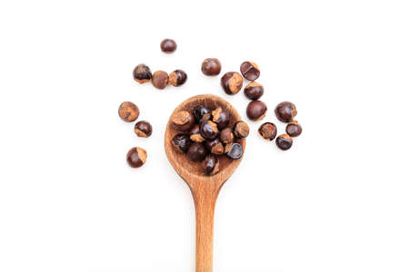 Guarana seeds on white background