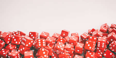 red dice: 3d rendering red dice background