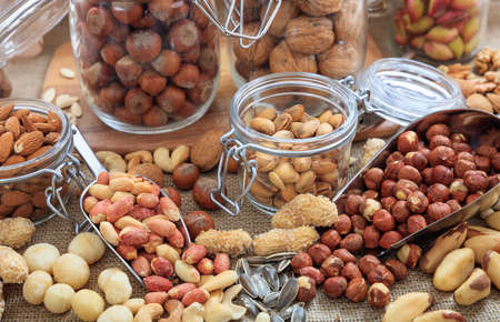 Composition with variety of nuts