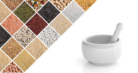 3d rendering mortar and pestle on white background Stock Photo