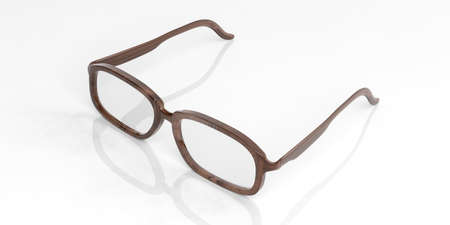 shortsighted: 3d rendering pair of glasses on white background