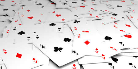 aces: 3d rendering aces cards background Stock Photo
