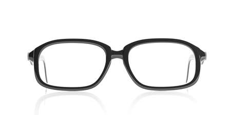 shortsighted: 3d rendering pair of black glasses on white background