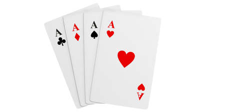 3d rendering aces cards Stock Photo