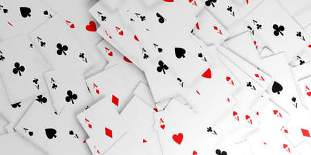 3d rendering aces cards background Stock Photo