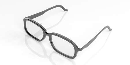 3d rendering pair of glasses on white background