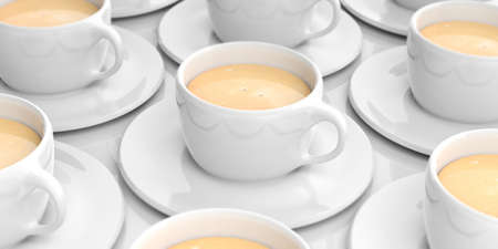 coffee cups: 3d rendering cups with coffee Stock Photo