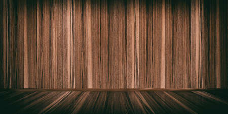 polished wood: 3d rendering wooden floor and wall background