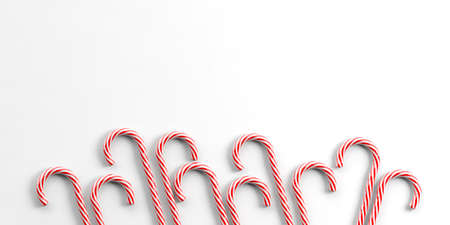 canes: 3d rendering candy canes on white background