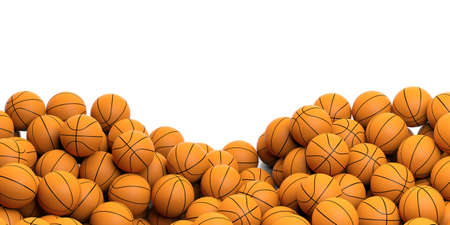 3d rendering basket balls background with copy space Stock Photo