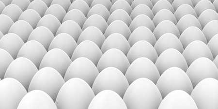 white eggs: 3d rendering white eggs full background Stock Photo