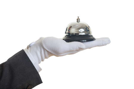 Butler service bell on white background Stock Photo