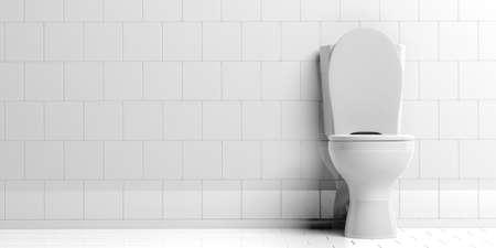 toilet bowl: 3d rendering white toilet bowl Stock Photo