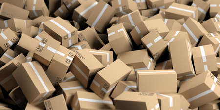moving boxes: 3d rendering closed moving boxes background