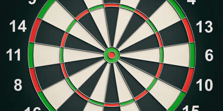 3d rendering colorful darts board close up Stock Photo