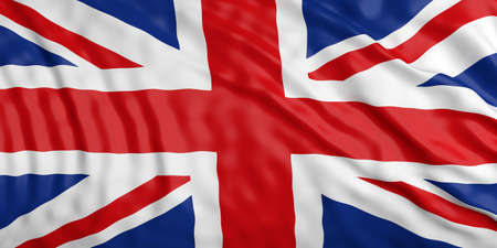 waiving: Waiving in the wind flag of Great Britain.3d illustration Stock Photo