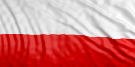 waiving: Waiving in the wind flag of Poland. 3d illustration Stock Photo