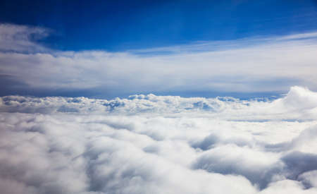 cloudscapes: Beautiful view of clouds and sky from a plane window