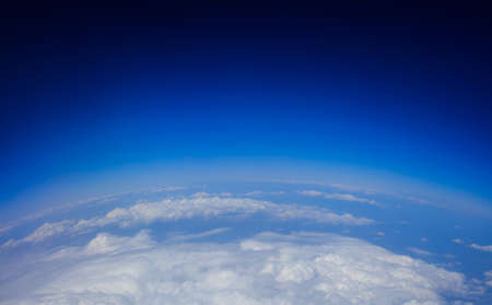 Planet earth - clouds and blue sky from space Stock Photo