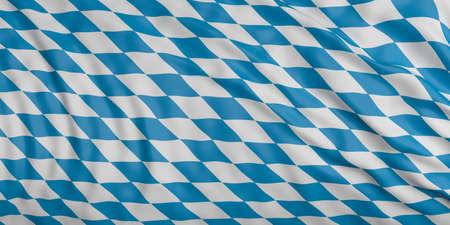 ドイツ・バイエルンの風旗に手を振り、シルクの質感で3dイラスト
