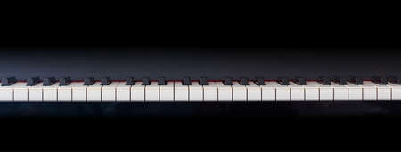 Piano Keyboard Banner Front View Copy Space Stock Photo Picture And Royalty Free Image Image 90278728