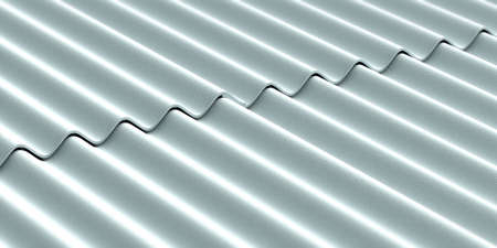 Asbestos roof.  Asbestos cement roofing sheets, corrugated panels background. 3d illustration