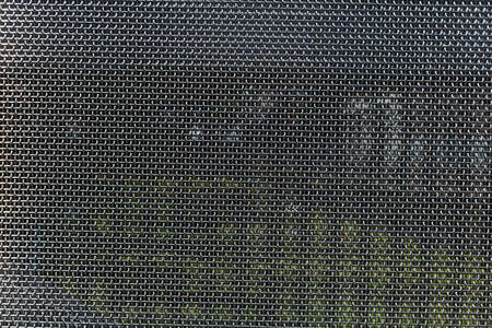 Metal mesh, stainless steel texture, full background. Industrial decorative material Imagens - 128517328