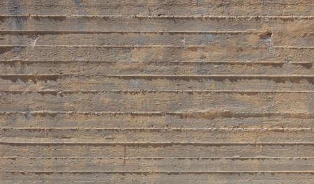Concrete wall background texture. Fair faced exposed concrete, building construction site, empty space, material Standard-Bild