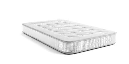 Mattress one single isolated on white background. 3d illustration. Comfort sleep, good dreams