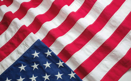 USA flag top view. American flag background texture. Memorial day and 4th of July, Independence day concept 免版税图像