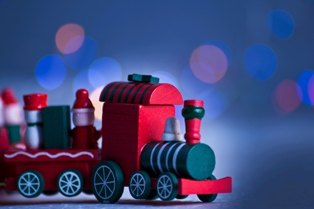 Christmas toy as background